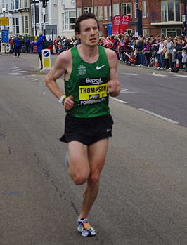 Tijdens de Great South Run in 2011, Portsmouth