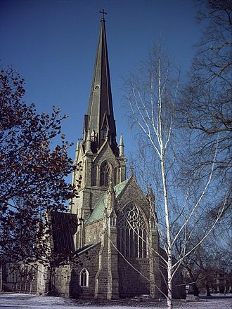 English Canadians - Christ Church Cathedral, Fredericton, construction began in 1845