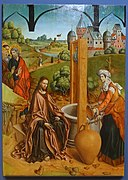 Christ and the Samaritan Woman by Fernando Gallego, 1480-1488, oil on panel - University of Arizona Museum of Art - University of Arizona - Tucson, AZ - DSC08342.jpg