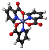 Ball and Stick model of chromium (III) picolinate