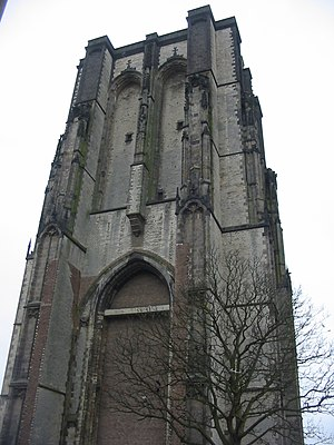 Zierikzee - The tower (Sint-Lievensmonstertoren) of Zierikzee was planned to be twice as high as it was eventually built.
