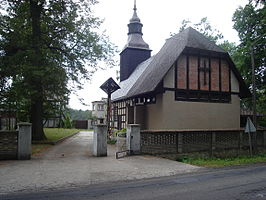 Church in Bińcze (view from east).jpg