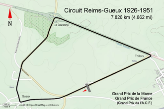 Reims-Gueux - Street Map - Reims-Gueux 1926