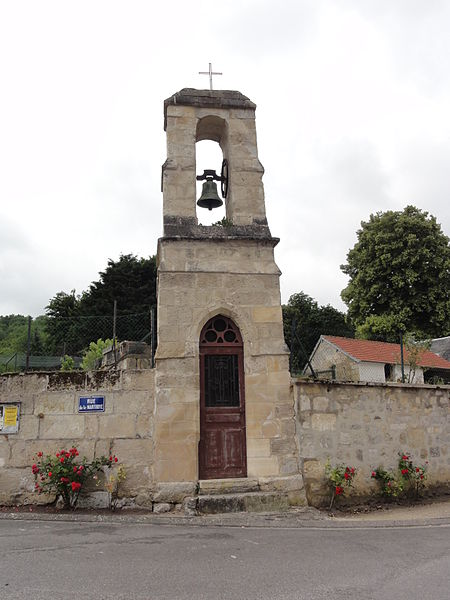 Ciry-Salsogne (Aisne) chapelle Saint-Jean avec clocher-mur