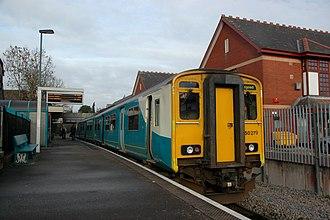 Penarth railway station - Train of one Class 150 Sprinter unit at Penarth