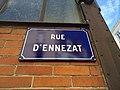 Clermont-Ferrand - Rue d'Ennezat - Plaque (juil 2020).jpg