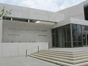 Cleveland Institute of Music - CIM's East Boulevard entrance