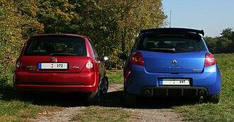 Clio Renault Sport - Image: Clio Sport II&III