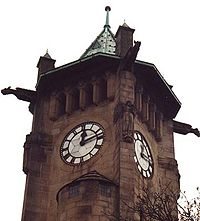 Clock tower at Lindley, West Yorkshire.jpg