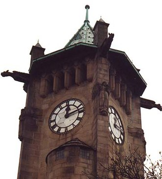 Lindley, Huddersfield - Image: Clock tower at Lindley, West Yorkshire