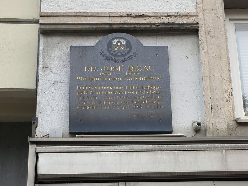 File:Close-up of José Rizal historical marker at Ludwigsplatz 12, Heidelberg, Germany.jpg