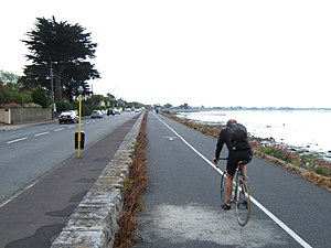 Kilbarrack - Coastal cycleway in Kilbarrack alongside Dublin Bay.