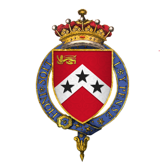Robert Carr, 1st Earl of Somerset - Coat of arms of Sir Robert Carr, 1st Earl of Somerset, KG