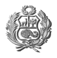 Coat of arms of Peru Escudo Peruano plata G.png