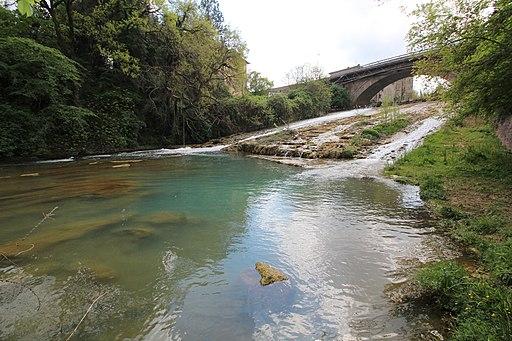 Vista sul ponte di San Marziale sul fiume Elsa