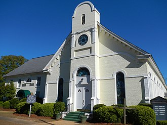 Columbia, Alabama - Image: Columbia First Baptist Church Columbia, Alabama