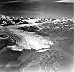 Columbia Glacier, Heather Island, Calving Terminus with Oblique View of Valley Glacier, August 22, 1979 (GLACIERS 1142).jpg