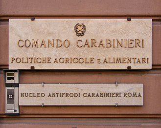 Ministry of Agricultural, Food and Forestry Policies (Italy) - Comando Carabinieri - Politiche Agricole e Alimentari sign.