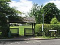 Combined bus shelter and roofed gate - geograph.org.uk - 499928.jpg