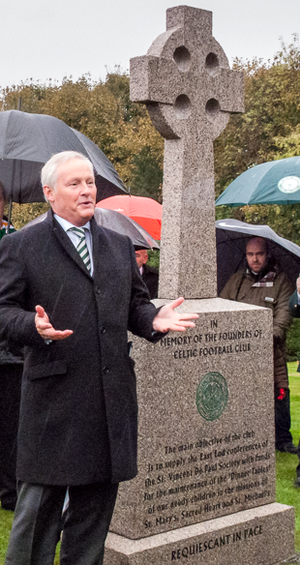 Ian Bankier - Ian Bankier speaking at St Peter's Cemetery, Dalbeth in Glasgow 2 November 2013