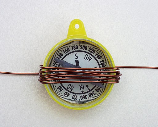 Compass in coil
