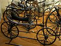 Compiègne (60), musée de la Voiture, draisienne type hobby horse, Royaume Uni, vers 1820.jpg