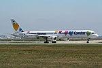 """Condor Boeing 757-330 D-ABON """"Wir lieben Fliegen"""" livery (22204513692).jpg"""