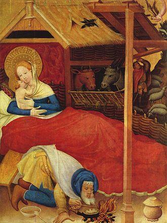 Conrad von Soest - Nativity from the Niederwildungen Altarpiece