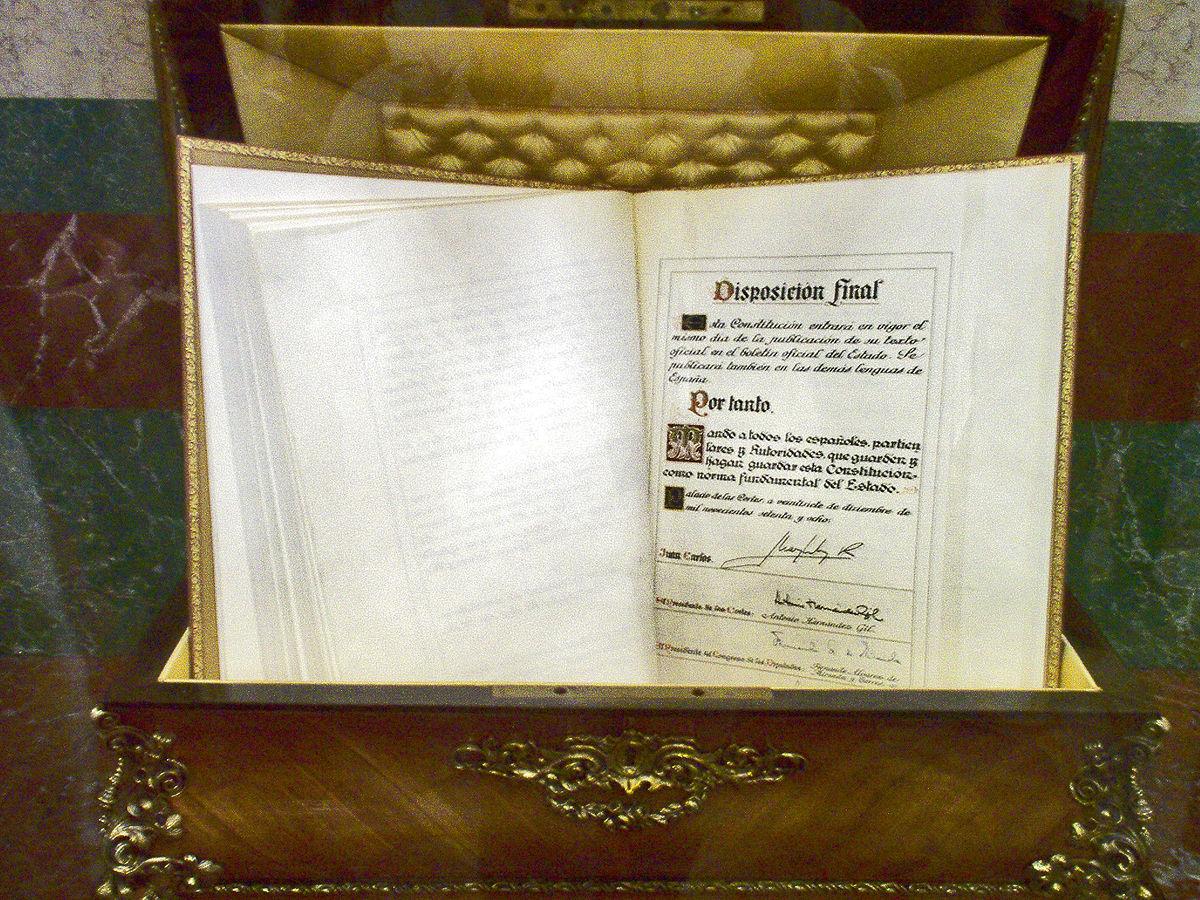 Spanish Constitution of 1978 - Wikipedia