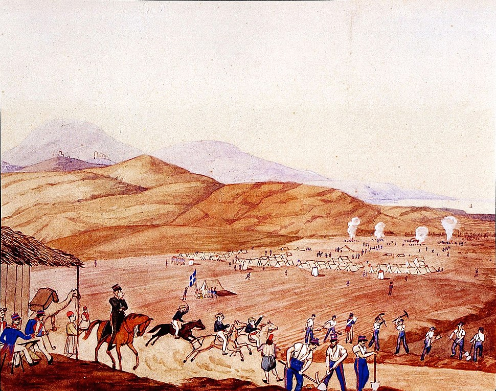 Construction of the Athens-Piraeus highway, 1835-36
