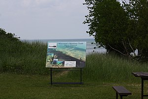 National Register of Historic Places listings in Manitowoc County, Wisconsin - Image: Continental Shipwreck Sign