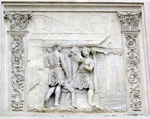 Temple of Cybele (Palatine) - Temple of Magna Mater on a relief now in Villa Medici, Rome