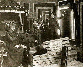 The Whartons Studio - A new stunt used by the Wharton brothers in The Mysteries of Myra (1916).