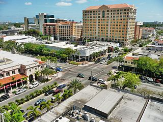 Miracle Mile (Coral Gables) shopping area in Coral Gables, Florida