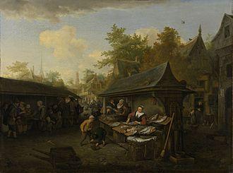 1683 in art - Dusart - Fish Market