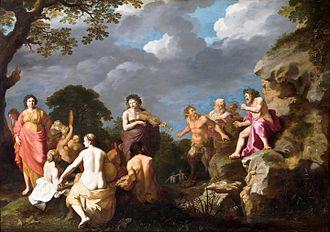 Cornelis van Poelenburgh - The Musical Contest between Apollo and Marsyas