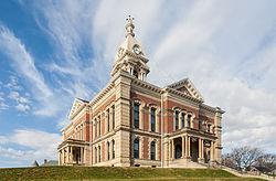 Cortes del Condado de Wabash, Wabash, Indiana, Estados Unidos, 2012-11-12, DD 01.jpg