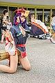 Cosplayer of jiangshi Shuten Douji kneeling at PF32 20200705d.jpg
