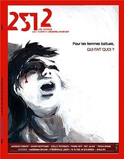 Couverture d'un numéro du magazine 2512 traitant des femmes battues par leur conjoint.