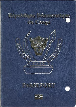 Democratic Republic of the Congo passport - The front cover of a contemporary DRC biometric passport.