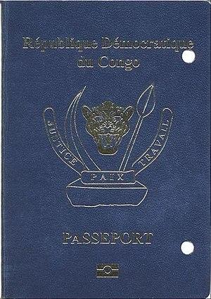 Democratic Republic of the Congo passport - The front cover of a contemporary DRC biometric passport.