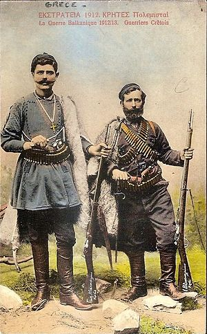Military volunteer - Image: Cretan Volunteers 1912