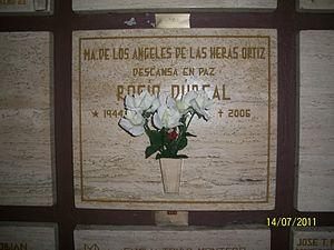 Rocío Dúrcal - Rocío Dúrcal's crypt