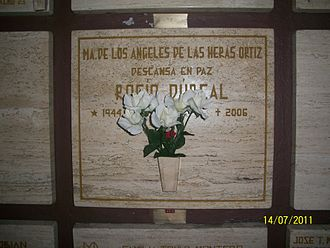 Rocío Dúrcal - Rocío Dúrcal's crypt at Basilica of Our Lady of Guadalupe in Mexico City