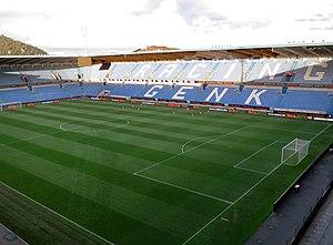 Luminus Arena - Image: Cristal Arena Stadionplein Genk panoramio