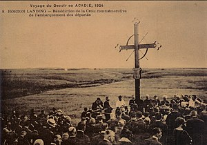 Grand-Pré, Nova Scotia - Acadian Memorial Cross, Grand-Pré