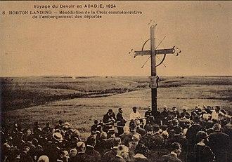 Grand-Pré, Nova Scotia - Acadian Memorial Cross, Grand-Pré
