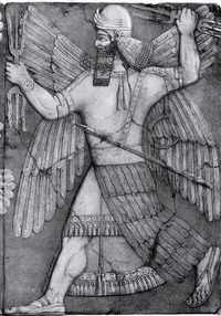 Cropped Image of Carving Showing the Mesopotamian God Ninurta.png