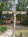 Crucifix in the Garden of Saint Anne chapel in Fonyód, 2016 Hungary.jpg