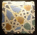 Cuerda seca tile, 12th-13th century - Alcázar of Seville, Spain - DSC07342.JPG
